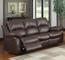 Reclining Sofa Couches Faux Leather Brown Black Recliner Sofas Couch Recliners