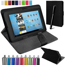 Universal Leather Folding Folio Stand Case Cover Pouch For All 8 Inch Tablets
