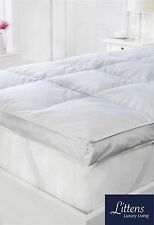 "LUXURY GOOSE FEATHER & DOWN MATTRESS TOPPER, 2"" / 5CM DEEP 100% COTTON NATURAL"