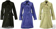 COLLECTION LONDON Women Ladies Pep Rain Mac Smart Trench Jacket Coat Size 8 - 20
