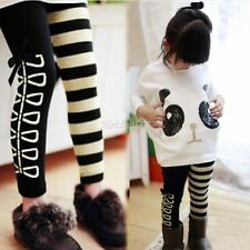 Girls Outfit sets for Kids Panda Batwing Pullover Tops +Striped Pants Leggings