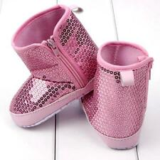 Newborn Baby Girls Winter Sequins High Boots Soft Bottom Anti Slip Toddler Shoes