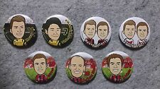 Cartoon Football Soccer Players Badge Germany Bundesliga football club yin pro