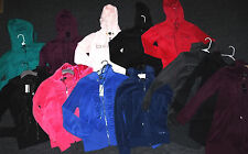 *MANY TO CHOOSE* BEBE logo velor hoodies jacket top red black green blue pink