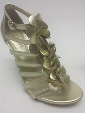 Kenneth Cole Reaction Know Show MT Womens Heels Shoes Metallic Light Gold 14T