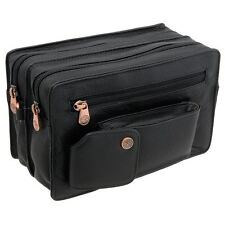 1642 Leather Double Zip Top Wrist Bag Style 6520_12