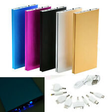 Ultrathin 20000mAh External Power Bank Backup USB Battery Charger for iPhone HTC
