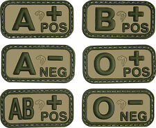 Viper Military Velcro Tactical Rubber PVC Blood Group Army Patches First Aid