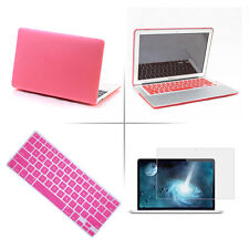"PINK Hard Rubberized Cover Case Shell for Macbook Air/Pro/Retina 11""13""15"""