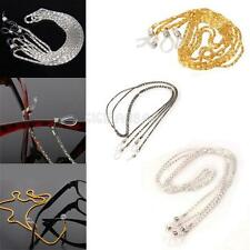 #gib 2Pcs New Metal Eyeglasses Necklace Chain Cord Reading Glasses Holder Strap