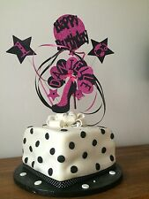 STILETTO SHOE BALLOONS AND STARS CAKE TOPPER ALL COLOURS/NAMES & AGES 16-99