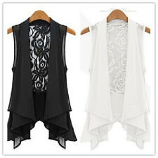 Women's Sexy Blouse summer Casual Tops backless Lace chiffon T Shirt black white