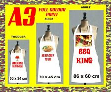 PERSONALISED  APRON ANY IMAGE/TEXT ADULTS AND CHILDREN A3  PRINT