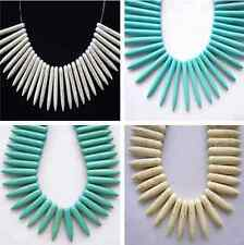 Pretty White Blue Needle-shaped Rocket-shaped Turquoise Spacer beads Find GZ