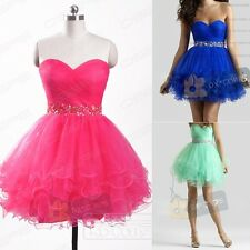 Short Formal Beads Cocktail Party Gown Evening Prom Homecoming Dresses Size6-16