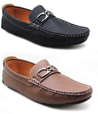 Men New Leather Driving Casual Shoes Moccasins Slip On Loafers