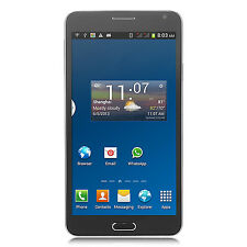 """Black 5.5"""" Android 2Core Dual Sim Unlocked Cell AT&T 3G/GSM/WCDMA GPS Smartphone"""