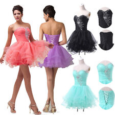 CHEAP SALE~2015 Sexy Short Beads Strapless Birthday Party Wedding Brides Dresses