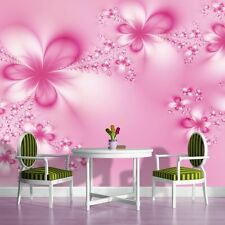 PHOTO WALL MURAL WALLPAPER WALLCOVERING HOME DECOR PINK FLOWERS 412VE