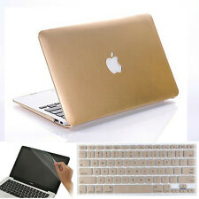 3in1 For MacBook AIR 11/ PRO 13 15 Hard Case Keyboard Screen Cover Metallic Gold
