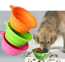 CHEAP ~Dog Cat Pet Colorful Portable Collapsible Feeding Bowl Drink Dish Feeder