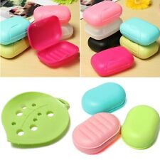 Soap Box Dish Case Holder Container Home Bathroom Shower Travel Outdoor Hiking