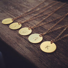 Initial necklace personalized Discs Charm Custom Letter friendship Jewelry Gifts