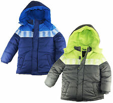 Ixtreme Boys Gray & Navy Puffer Hooded Winter Jacket size 4 5 6 7