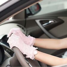 Women summer Lace gloves Cycling Driving UV-proof Gloves Wedding Bridal Gloves