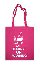 TEACHER KEEP CALM AND CARRY ON MARKING SCHOOL COLLEGE SHOPPING TOTE BAG GIFT