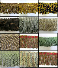 Premium Quality Bullion Chenille Fringe & Decorative Braid Furnishing Trimming
