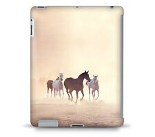 Horses on Dusty Plain Tablet Hard Shell Case for iPad, Kindle, Samsung Galaxy,..