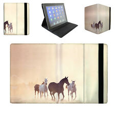 Horses on Dusty Plain Tablet Folio Case for iPad, Kindle, Samsung Galaxy Tab, ..