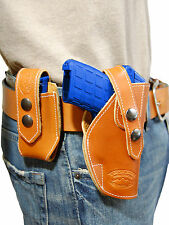 NEW Barsony OWB Tan Leather Holster + Mag Pouch Star Bersa Small 380 UltraComp