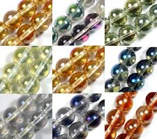 """10mm Beautiful Multi-color Glass Round Loose Beads 14"""""""