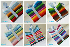 """18 sheet packs of Wool Mix Craft Felt. 6 themes @9""""(23cm)x9"""" squares or 9""""x4.5"""""""