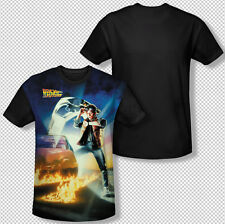 Back To The Future Movie Michael J. Fox Poster All Over Front Youth T-shirt Top