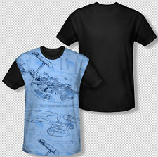 Star Trek Enterprise Blueprint Picture All Over Front print Youth T-shirt Top