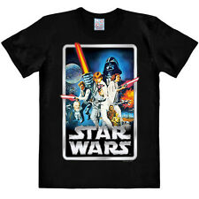 Mens Black Star Wars Poster T-Shirt