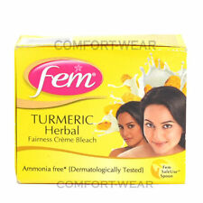 Fem TURMERIC HERBAL Bleach Lightening Fairness face Mask Cream Whitening GLOW