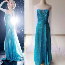 Sexy Frozen Elsa Snow Queen Top Grade Adult Lady Cosplay Costume Fancy Dress S-L