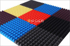 """2""""x20""""x20"""" Acoustic Soundproof Sound Stop Absorption Pyramid Studio Foam #N2-1"""