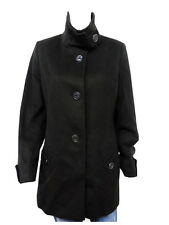 Kristen Blake Women's Australian Wool Blend Peacoat NWT Black