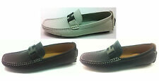 NEW MENS LEATHER LOOK DESIGNER  ITALIAN LOAFERS CASUAL SHOES SIZE 6-11 (3811)