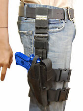 NEW Barsony Tactical Leg Holster w/Mag Pouch FN, HK, Glock Full Size 9mm 40 45