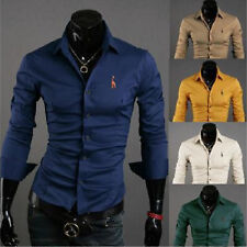 New Style Mens Luxury Long Sleeve Casual Slim Fit Stylish Dress Shirts 6 Size