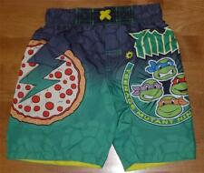 Tod Boys TEENAGE MUTANT NINJA TURTLES PIZZA Swim Trunks Size 3T 4T short suit