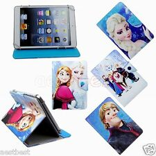 "Cute Frozen Cartoon Leather Case Cover For 7"" 7-inch Android Tablet"