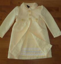 Girls Holiday Edition YELLOW Dress & Coat Jacket Size 3T 4T Spring Easter Tod