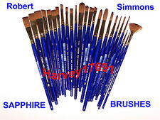 Robert Simmons Sapphire Watercolor, Oil, Acrylic Brushes - SAVE 57% Off Retail